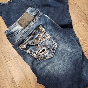 Silver elyse bootcut jeans